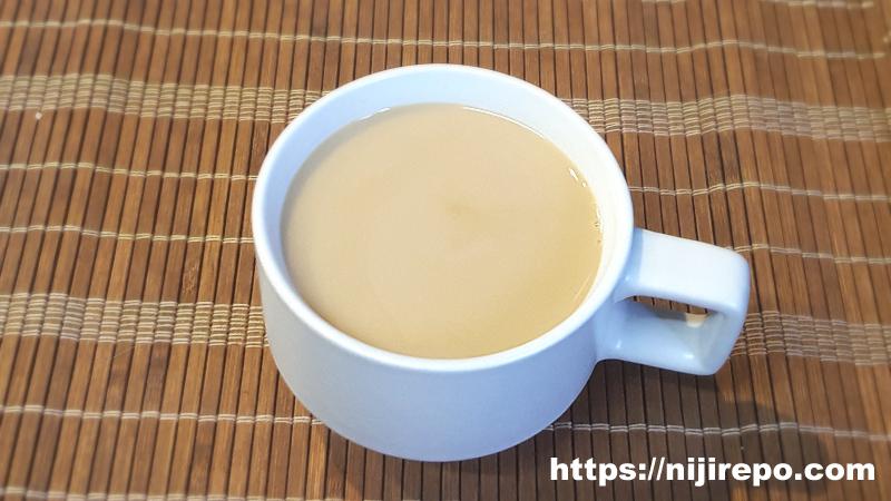 カフェインレスコーヒー砂糖&牛乳入り