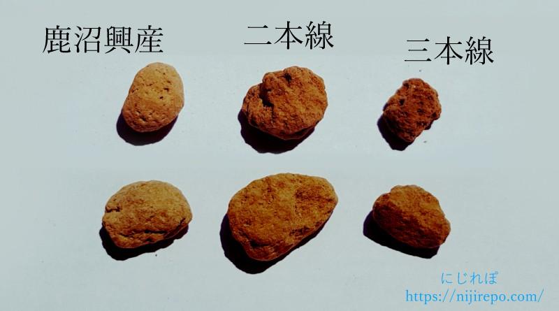 硬質赤玉土 粒の大きさばらつき
