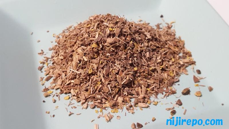 森のこかげ サラシア茶 業務量 1kg お茶葉(根)の見た目